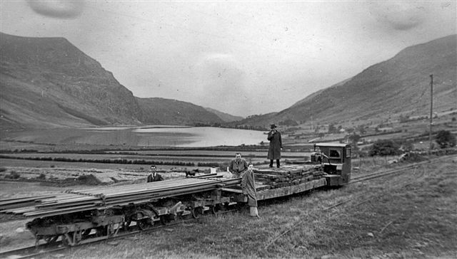 Demolition train at Glanrafon 1941