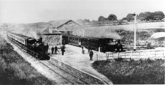Early photo at Dinas Junction